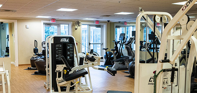 Covenant Living at Inverness Tulsa, Oklahoma gym and fitness center for seniors